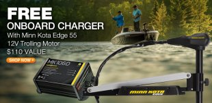 totally free Onboard Charger With Minn Kota Edge 55 12V Trolling Motor - 0 price - Fishing